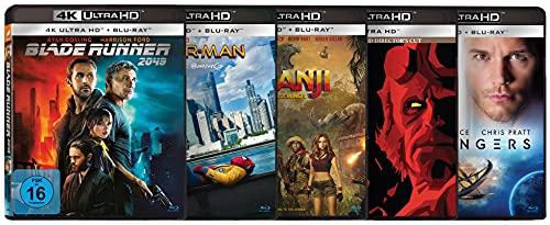 Actionfilme - Das 5er 4K UHD Film-Boxset (Blade Runner, Spider-Man: Homecoming, Jumanji: Willkommen im Dschungel, Hellboy, Passengers)