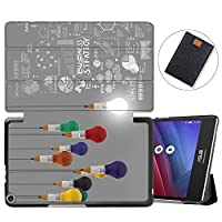 MAITTAO Slim Folio Shell For ASUS ZenPad 8.0 Z380M Case 2015 Release, Magentic Smart Stand Cover with Wake/Sleep for ASUS ZenPad 8 Z380C / Z380KL 8-Inch Tablet Sleeve Bag 2 in 1, Flowers & Leafs 20