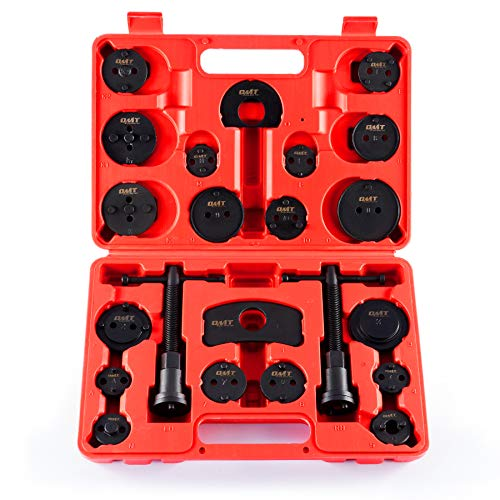 Orion Motor Tech Disc Brake Pad and Caliper Service Tool Kit | Professional Disc Brake Caliper Compression Tool Kit | Universal Disc Brake Caliper and Piston Wind Back Tool Set with Case