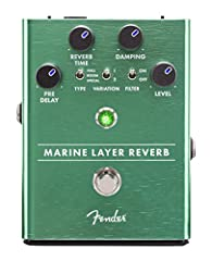 Hall, room and shimmer reverb types Reverb trails continue when effect is muted Led backlit knobs Fender amp Jewel LED Magnetically latched hinged 9V battery door