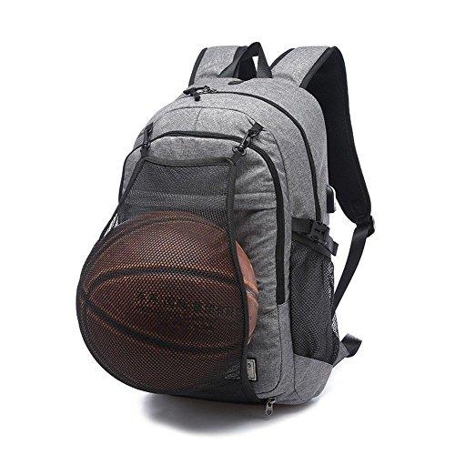 Mochila Moyun 2 en 1 para portátil de 17 pulgadas, con puerto de carga USB y bolsillo de malla oculto, negro
