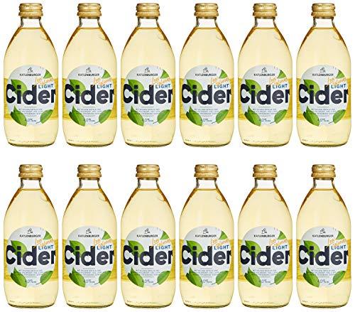 Katlenburger Light-Cider, Apfelschaumwein, weniger Kalorien und nur 4,0% vol, der ideale leichte Genuss (12x0.33 l)