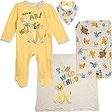 Disney The Lion King Baby Boys Layette Footies Burp Cloth Blanket Bib 0-6 Months