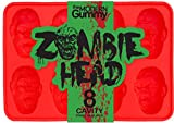 Zombie Head Candy Mold by The Modern Gummy, PROFESSIONAL GRADE PURE LFGB SILICONE, 8 Realistic...