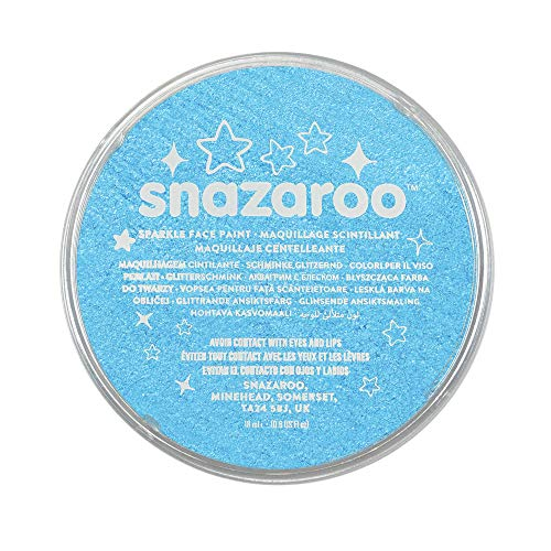 Snazaroo Sparkle Face and Body Paint, 18ml, Turquoise