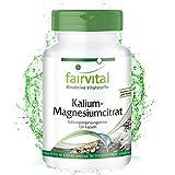 Kalium Magnesium Citrat Kapseln- VEGAN - 120 Kapseln - hochdosiert