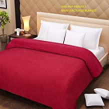 NKK PNP PANIPAT Manufactured Double Fleece Polar Blanket- RED
