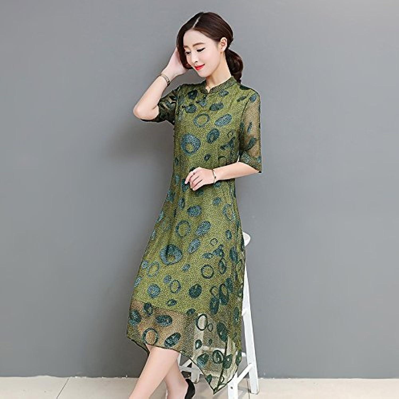f9393a64bc9b XIURONG The Dress of A Long Dress in Silk Dress Silk A nudeul3877 ...