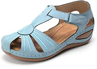 Woman 2020 Comfortable Summer Leather Vintage Sandals Buckle Casual Sewing Women Retro Sandalias Female Ladies Platform Shoes