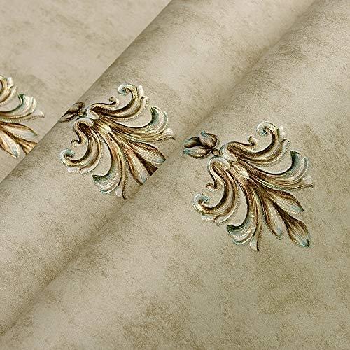 Yughb Pantalla, no tejido impermeable tridimensional del estilo europeo de escasa papel tapiz de flores Antecedentes dormitorio Sala de estar Estudio de pared for TV de papel-10m * 0.53m = 5.3²m/rol