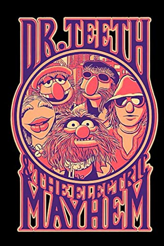 Best Seller Dr Teeth And The Electric Mayhem Merchandise Notebook: (110 Pages, Lined, 6 x 9)