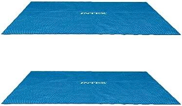 Intex 9 x 18 Foot Rectangular Solar Frame Set Swimming Pool Cover (2 Pack)