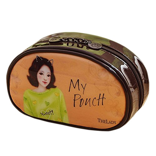 Cosmetics Pouch Wash Bag beau sac à main Dans un sac Liner marron