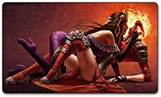 Liliana vess and Chandra nalaar Kissing Board Cards Games Play Mat Table pad Size 60x35 cm Mousepad playmats with Waterpro...