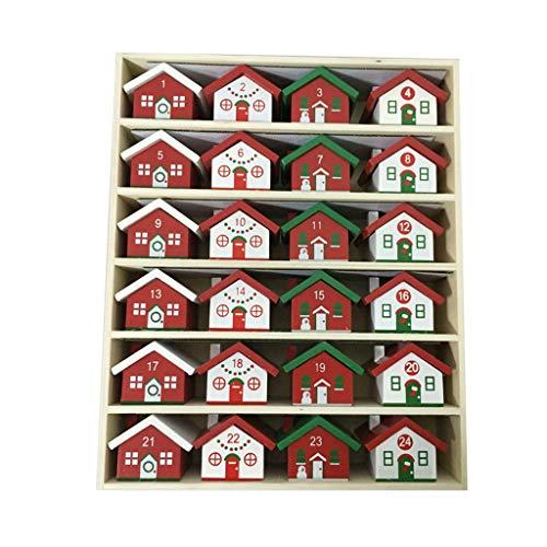 Calendarios de adviento Calendario De Navidad De Madera Caja De Almacenamiento De Navidad del Caramelo Coming Cuenta Atrás Calendario Decoración del Hogar El Calendario De Escritorio Regalo