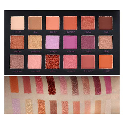 Fard à paupières, 18 couleurs Palette de fards à paupières Maquillage Paillettes Scintillant Naturel Yeux Poudre Beauté Outil pour les femmes
