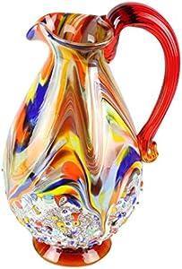 Harmony - Jarra de cristal de Murano - Millefiori y decoración de plata
