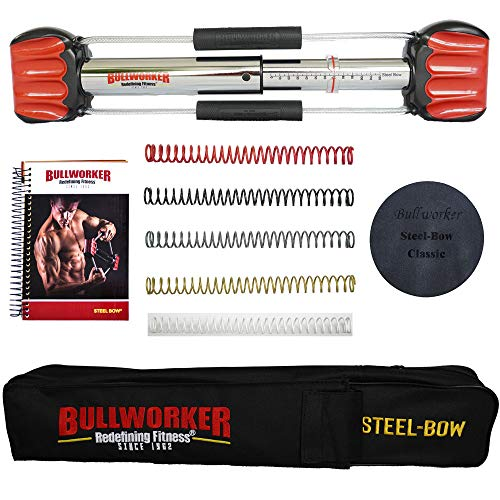 Bullworker 20' Steel Bow - Full Body Workout - Portable Home Gym Isometric Exercise Equipment for Fast Strength Training Gains. Cross Training Fitness; Chest, Back, Arms, and Abs Exercise Machine
