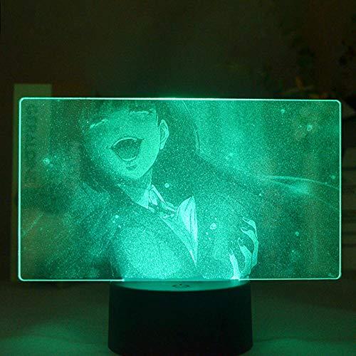 3D ilusión regalo lámpara kkegurui 16 colores cambiantes interruptor táctil decoración noche control remoto juguete