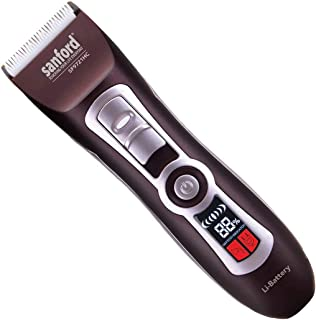 Sanford Sf9721Hc Rechargeable Hair Clipper For Men, brown,