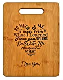 Mothers Gift - Special Love Heart Poem Bamboo Cutting Board Mom Present Mother Day Mom Birthday Holiday Engraved Side...