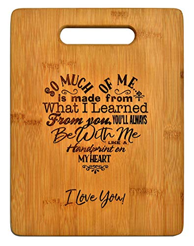 Mothers Gift - Special Love Heart Poem Bamboo Cutting Board Mom Present Mother Day Mom Birthday...