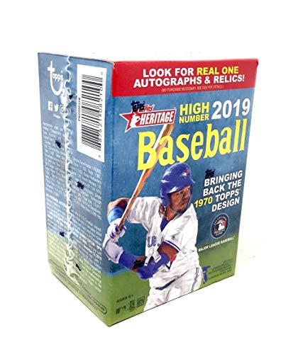 Topps 2019 Heritage High Number Baseball Retail Blaster Box (8 Packs/9 Cards)