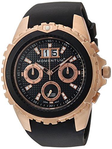 Momentum Heren Chronograaf Quartz Horloge met Rubber Band 1M-DV24B4B