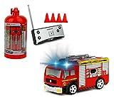 Brigamo Mini RC Feuerwehrauto mit Blaulicht, Ferngesteuertes Auto im Deko Feuerlöscher, Feuerwehr Leiterwagen, ideales Geschenk für Feuerwehr Fans (40 Mhz)