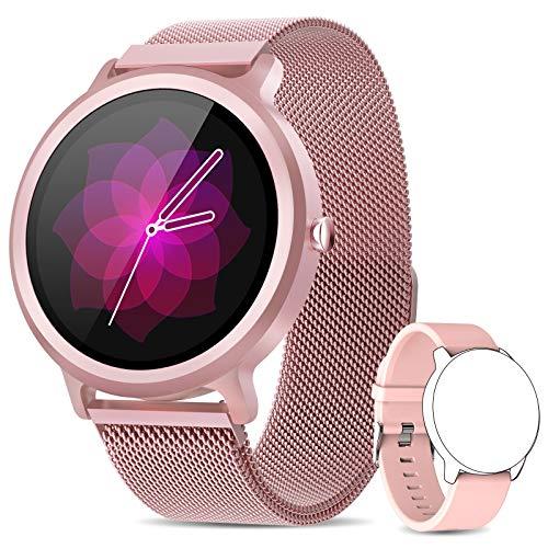 NAIXUES Smartwatch Mujer, Reloj Inteligente IP68 con 24 Modo