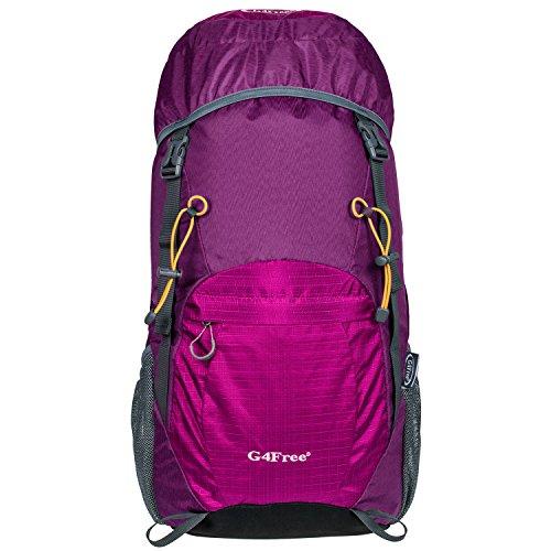 G4Free 40L Faltbarer Trekkingrucksack Daypack Wasserdichter Ultraleicht Damen Herren für Outdoor Wandern Camping Reisen