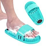 Meidong Silicone Shower Foot Scrubber Personal Foot Massage and Cleaning, Non-slip Foot Scrubber for Men and Women (1PCS Green)
