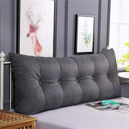 ZHZG Kopfbrett Kissen Dreieck Bett Kissen Soft Pack Sofa Große Rückenkissen Tatami Bett Rückenlehne abnehmbar und waschbar (Color : B, Size : 180cm(70.86 Inches))