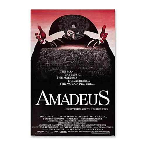 NCCDY Affiche de film Amadeus Mozart Musique Poster décoratif sur toile pour salon, chambre à coucher 20 x 30 cm