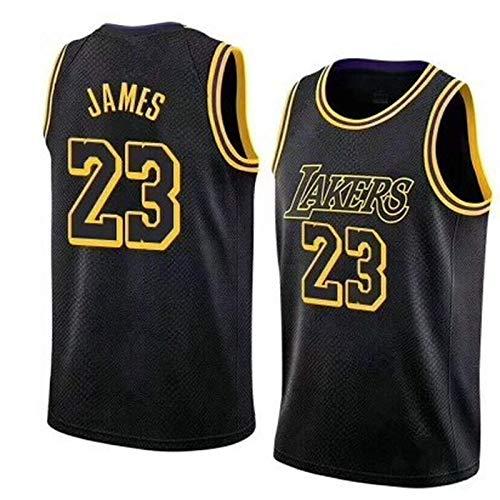 Camiseta de baloncesto para hombre NBA NO.23 NO.24 Malla sin mangas Deportes Cómoda, fresca, transpirable, edición conmemorativa, color negro Camiseta de baloncesto