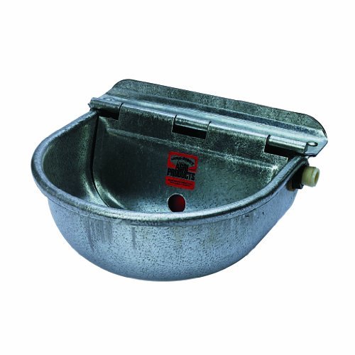 Little Giant 88SW All Purpose Automatic Stock Waterer for Horses, Cattle and Other Outside Animals; 10' x 10.75' x 5.5', Heavy Gauge, Prime Quality Drawn,Galvanized Steel; Connects 1/2' Pipe/Hose