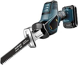 XDXDO 16.8V sader Saw inalámbrico eléctrico reciprocatante Sierra con 2 Hojas de Sierra de Metal, Adecuada para Corte de Metal y Madera