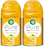Air Wick Pure Freshmatic Ultra Automatic Spray Refill - Sparkling Citrus Scent - Net Wt. 5.89 OZ Per Refill Can - Pack of 2 Refill Cans