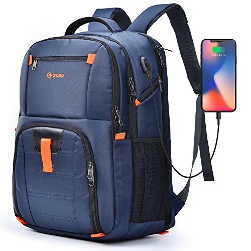 POSO Laptop-Rucksack, 43,9 cm (17,3 Zoll) Blau blau 17.3 Inches