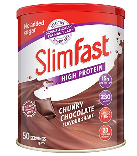 SlimFast Meal Replacement Powder Shake, Chunky Chocolate, 50 Serving