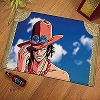地毯 可洗 小地毯 玄关地垫 厨房 入门 阳台 出窗 国旗 海贼王 One Piece ワンピース 复古 古典 客厅 卧室 洗手间 浴室 大尺寸-120X160CM-A_40x60cm