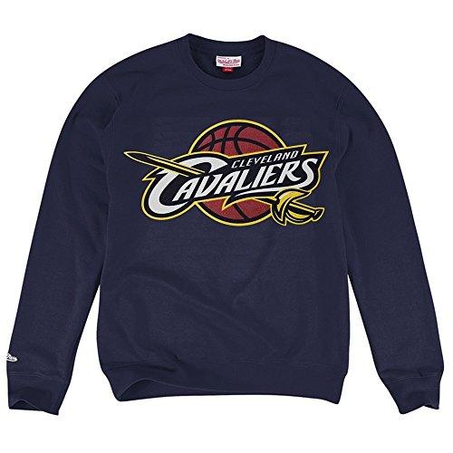 Mitchell & Ness Cleveland Cavaliers corrente felpa girocollo NBA navy