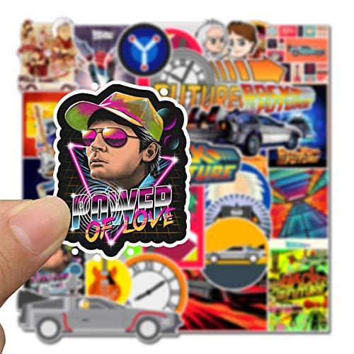BLOUR 50 Stück zurück in die Zukunft Movie Stickers Pack für auf dem Laptop Kühlschrank Telefon Skateboard Koffer Pegatinas Sticker Dropshipping