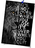 Black and White Lion Inspirational Poster Inspiring Motivational Quotes Poster Wall Art for Home Office Classroom Decor Motivational Wall Art Poster (8x12 inch Unframed,Black)