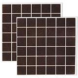 Filzada® 72x Almohadillas de Fieltro Adhesivo - 25 x 25 mm cuadrados - Marrón - Muebles profesionales patines de fieltro Con un poder adhesivo ideal