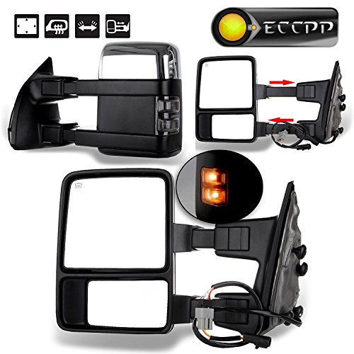 ECCPP Towing Mirror Replacement fit for 1999-2007 Ford F250 F350 F450 F550 Super...