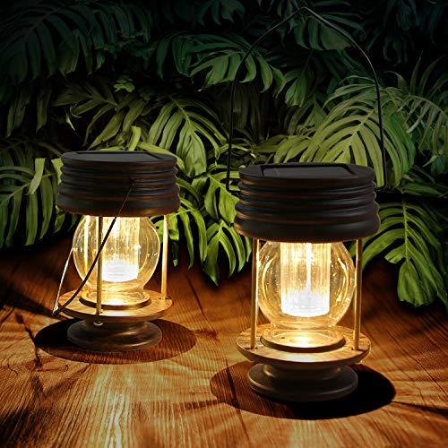 2 Farolillos Solares Exterior Solar para Decoración de Mesa, Luces LED para...
