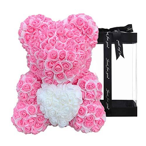 Rose Bear, Forever Rose Bear | Orso Fiorito Artificiale, Orsacchiotto Rosa Su Ogni Orsetto Rosa, Orsetto Fiorito Perfetto Per Anniversari, Orsetto Rosa, Madri, Orsacchiotto Rosa. Scatola Regalo