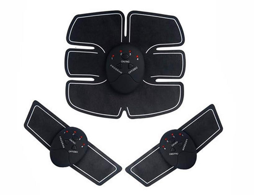 フィヨルド実業家税金ボディシェイパーインテリジェントポータブル EMS フィットネス楽器ホーム使用2種類オプション Elitzia ETEMS824 (ブラック 電池式)