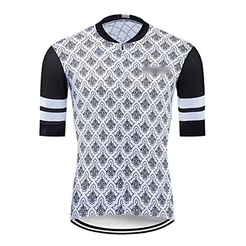 Hombres Ciclismo Jersey Manga Corta Racing Tops MTB Bike Jersey Ciclismo Camiseta Equipo Bicicletas Maillot Ciclismo, Hombre, 2, XL